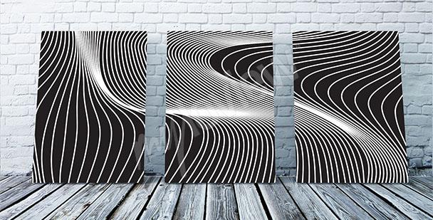 Obraz iluzja optyczna linie