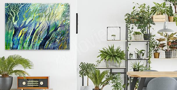 Obraz impresjonistyczny – drzewa