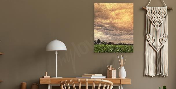 Obraz impresjonistyczny z krajobrazem