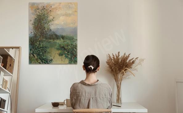 Obraz impresjonizm – letni staw