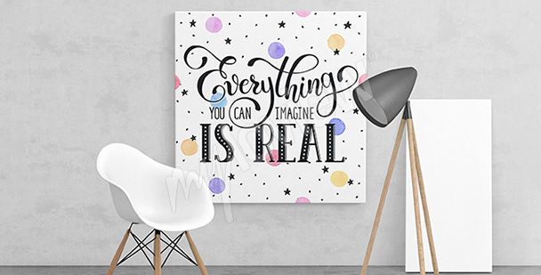 Obraz inspirujący cytat
