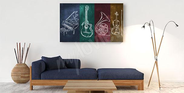 Obraz instrumenty muzyczne