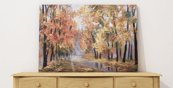 Obraz jesienny pejzaż