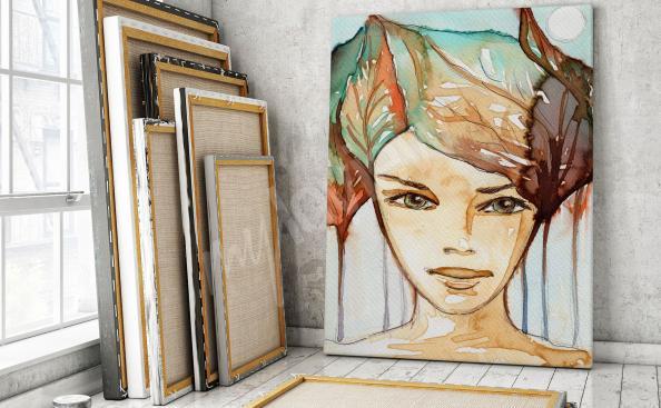 Obraz jesienny portret kobiety