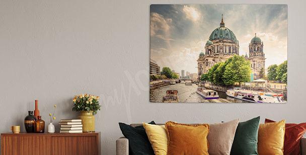 Obraz katedra nad rzeką
