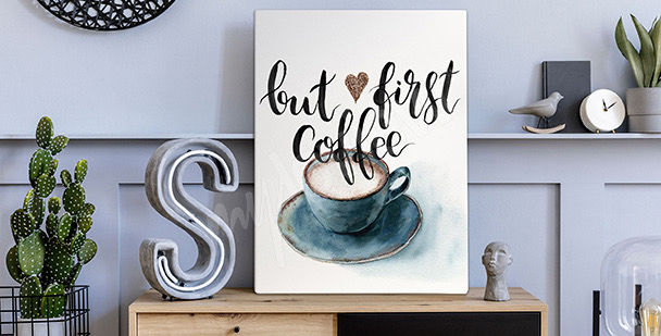 Obraz kawa w akwareli