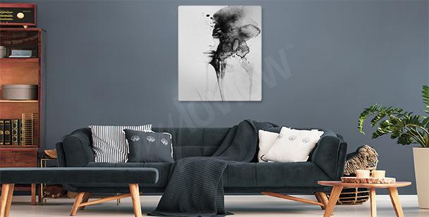 Obraz kobieta akwarela