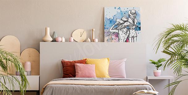 Obraz do sypialni motyle