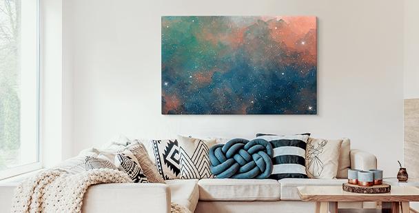 Obraz kolorowe galaxy