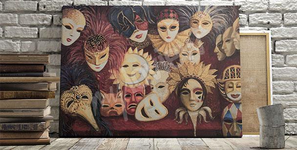 Obraz kolorowe maski weneckie