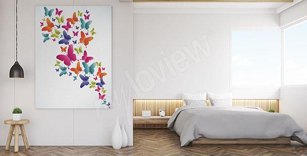 Obraz kolorowe motyle
