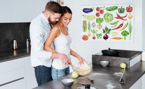 Obraz kolorowe warzywa do kuchni