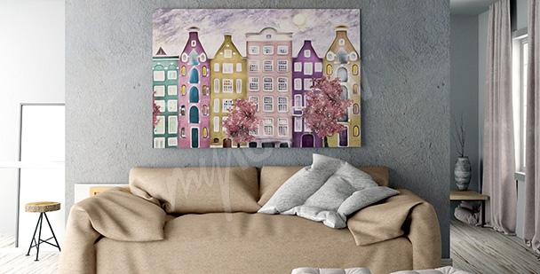 Obraz kolorowy Amsterdam