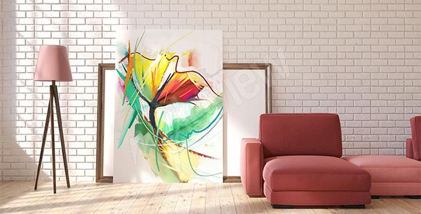 Obraz kolorowy kwiat