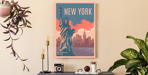 Obraz kolorowy Nowy Jork