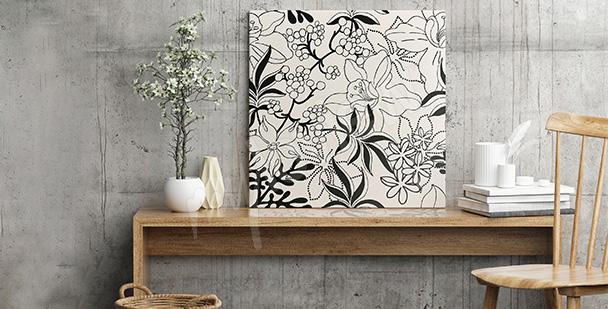 Obraz kompozycja z kwiatów