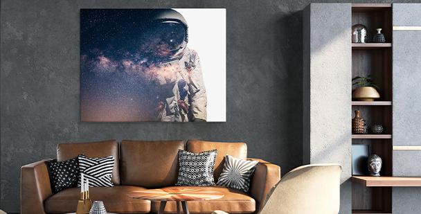 Obraz kosmos do salonu