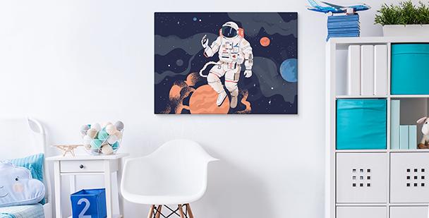 Obraz kosmos i astronauta