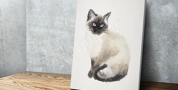 Obraz kot malarstwo