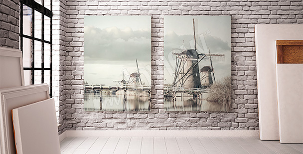 Obraz krajobraz Holandii