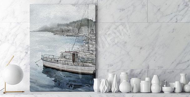 Obraz krajobraz z łodzią