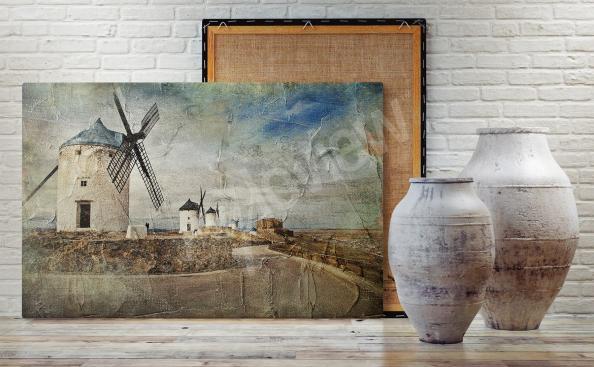 Obraz krajobraz z wiatrakami