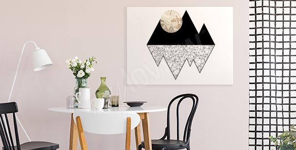 Obraz księżyc w górach