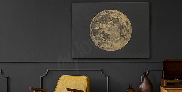 Obraz księżyc w stylu retro