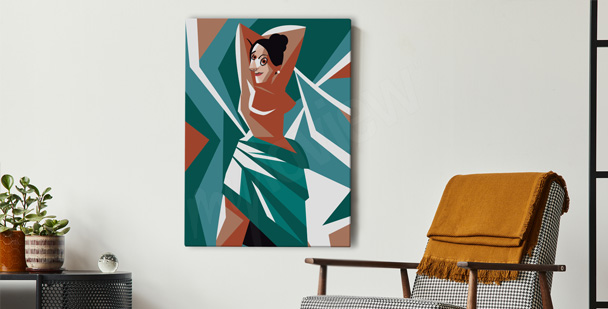 Obraz kubizm i kobieta
