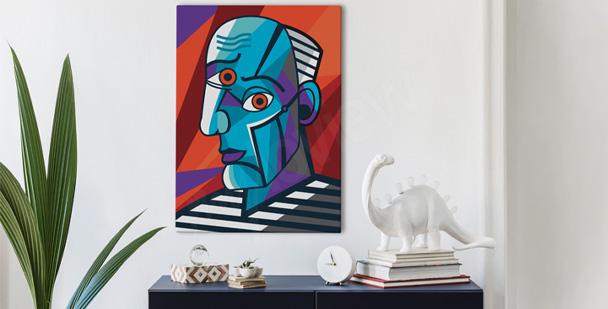 Obraz kubizm – portret mężczyzny