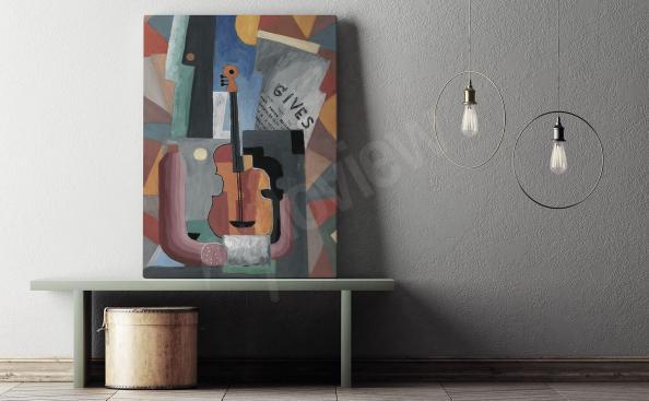 Obraz kubizm skrzypce