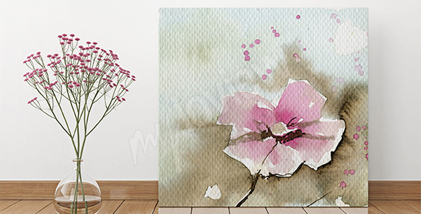 Obraz kwiat do salonu