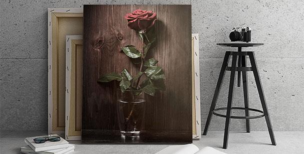Obraz kwiat -  styl rustykalny
