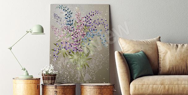 Obraz kwiatowy motyw do salonu
