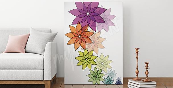 Obraz kwiaty do salonu