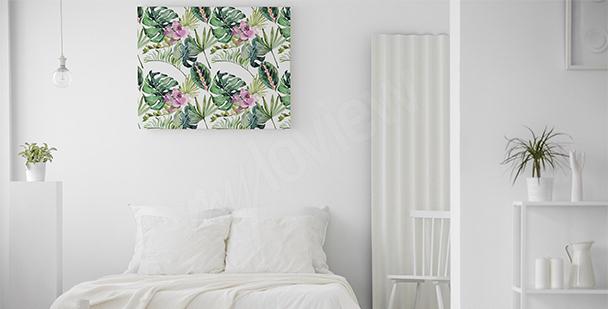 Obraz kwiaty i liście