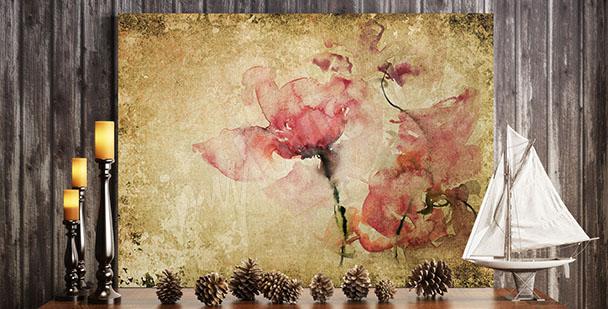 Obraz kwiaty róży vintage