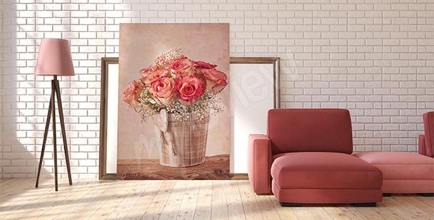 Obraz kwiaty shabby chic