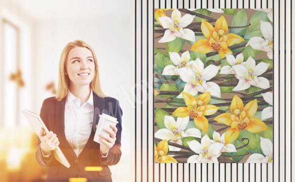 Obraz kwiaty wanilii
