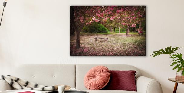Obraz kwitnący ogród