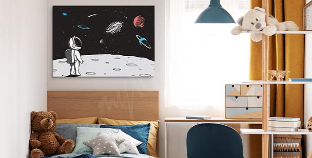 Obraz lądowanie na księżycu