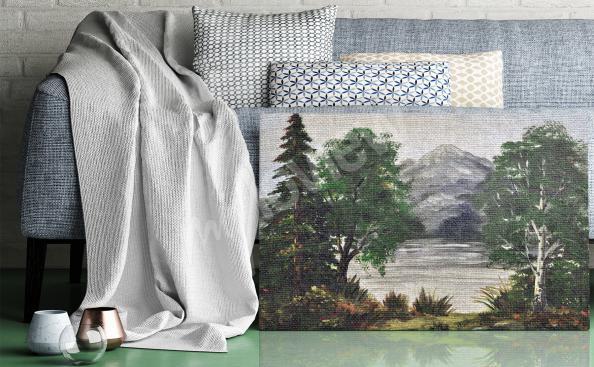 Obraz las brzozowy retro