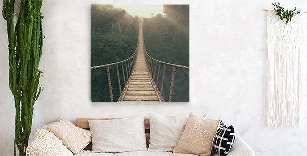 Obraz las za mgłą