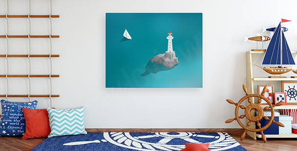 Obraz latarnia morska na oceanie
