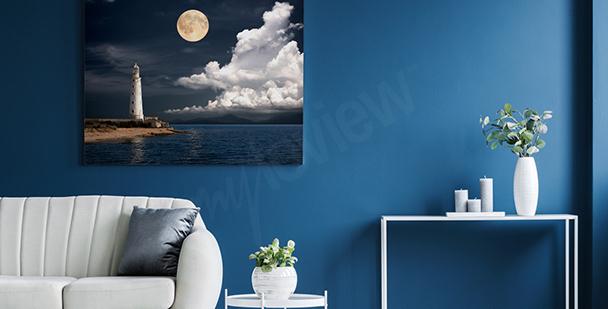 Obraz latarnia morska nocą