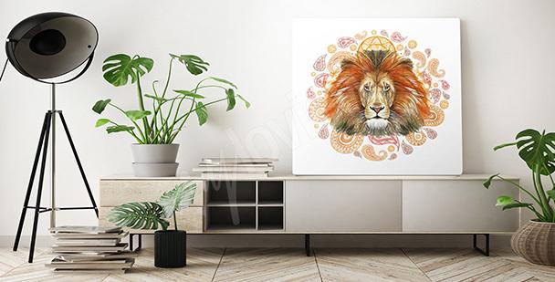 Obraz lew do sypialni