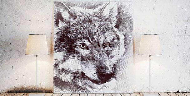 Obraz leżący wilk