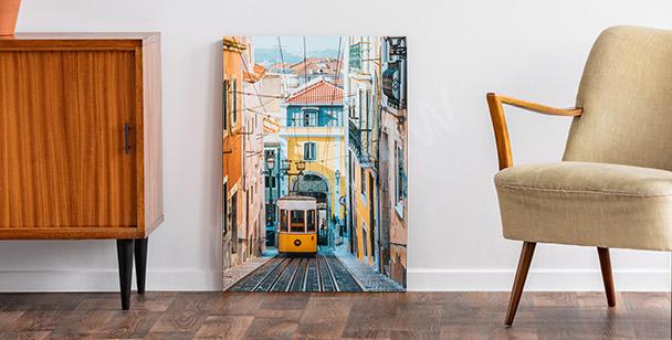 Obraz Lizbona i kolej linowa