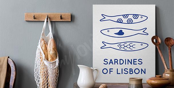 Obraz Lizbona i sardynki