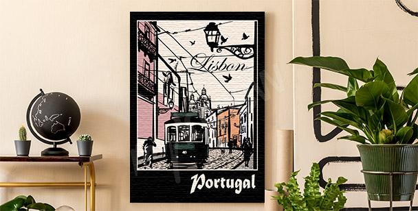 Obraz Lizbona i tramwaj